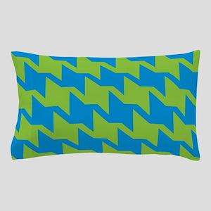 Blue-Green Houndstooth Pillow Case
