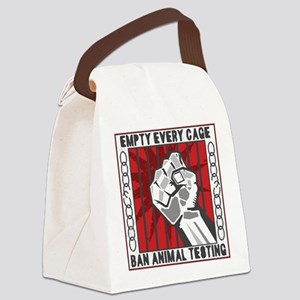 Empty Every Cage Canvas Lunch Bag
