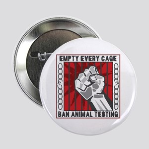"""Empty Every Cage 2.25"""" Button"""