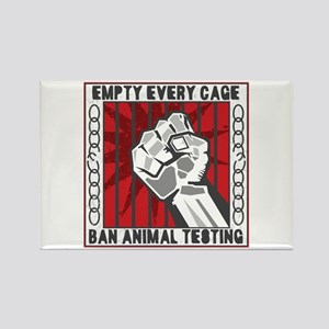 Empty Every Cage Rectangle Magnet