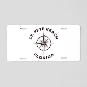Florida - St. Pete Beach Aluminum License Plate