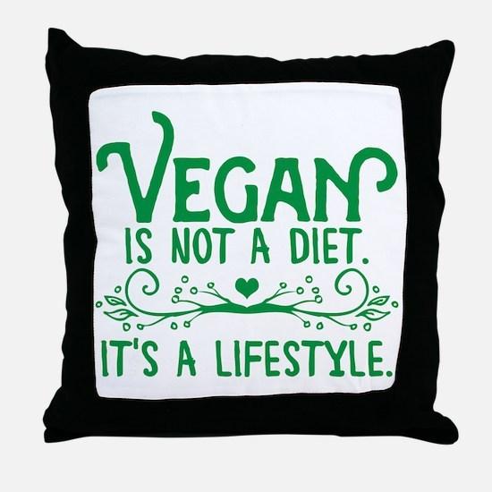 Vegan is Not a Diet Throw Pillow