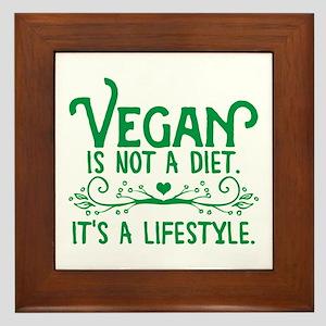 Vegan is Not a Diet Framed Tile
