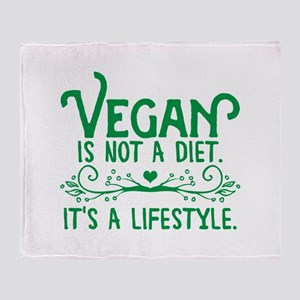 Vegan is Not a Diet Throw Blanket