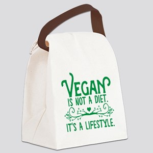 Vegan is Not a Diet Canvas Lunch Bag