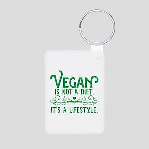 Vegan is Not a Diet Aluminum Photo Keychain