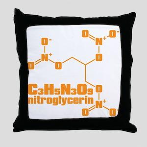 nitroglycerin Throw Pillow