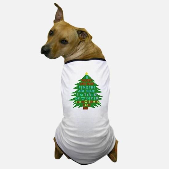 Funny Bah Humbug Christmas Poem Dog T-Shirt