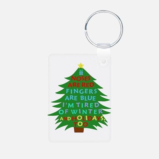 Funny Bah Humbug Christmas Poem Keychains