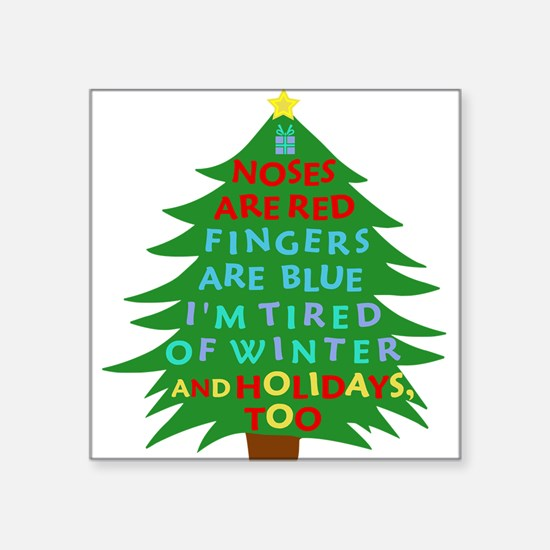 Funny Bah Humbug Christmas Poem Sticker