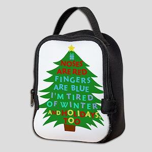 Funny Bah Humbug Christmas Poem Neoprene Lunch Bag