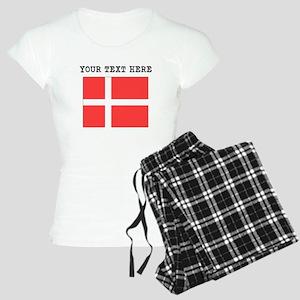 Custom Denmark Flag Pajamas