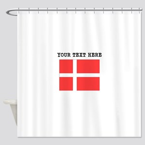 Custom Denmark Flag Shower Curtain