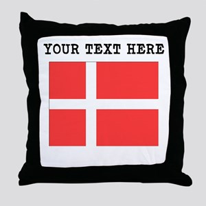 Custom Denmark Flag Throw Pillow