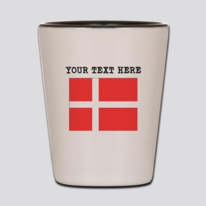 Custom Denmark Flag Shot Glass