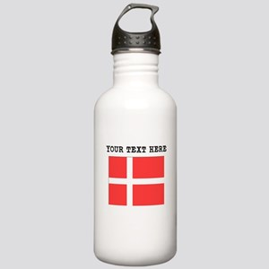 Custom Denmark Flag Water Bottle