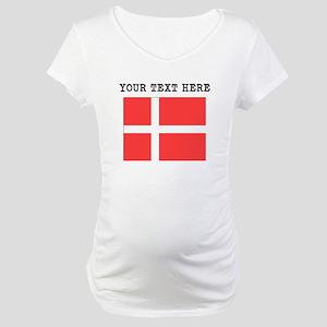 Custom Denmark Flag Maternity T-Shirt