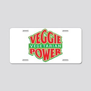 Veggie Power Vegetarian Aluminum License Plate