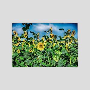 Sunflower Field 4' x 6' Rug