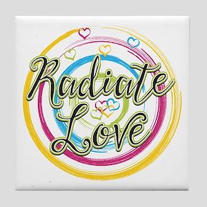 Radiate Love Tile Coaster