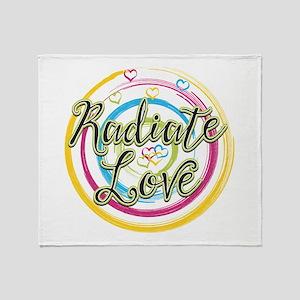 Radiate Love Throw Blanket