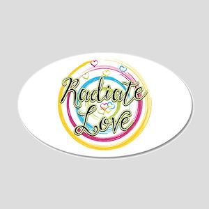 Radiate Love 20x12 Oval Wall Decal