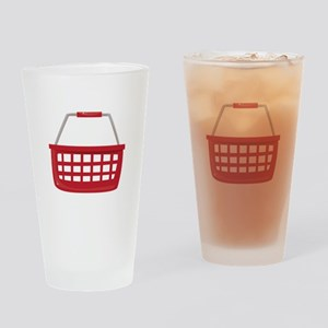Shopping Basket Drinking Glass