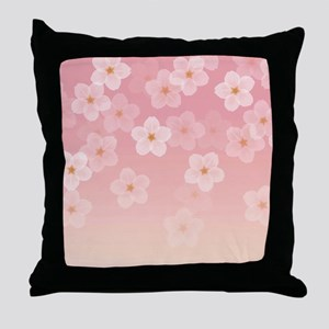 Cherry Blossom Kawaii Throw Pillow
