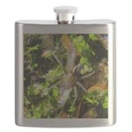 6 Spotted Fishing Spider v Mosquitofish Flask