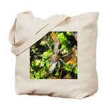 6 Spotted Fishing Spider v Mosquitofish Tote Bag