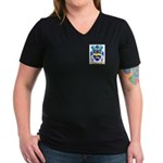 Hawyes Women's V-Neck Dark T-Shirt