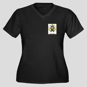 Hawkings Women's Plus Size V-Neck Dark T-Shirt