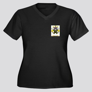 Hawking Women's Plus Size V-Neck Dark T-Shirt
