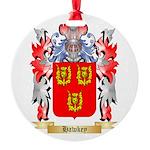 Hawkey Round Ornament