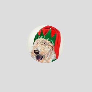 Santa's Helper Labradoodle Mini Button