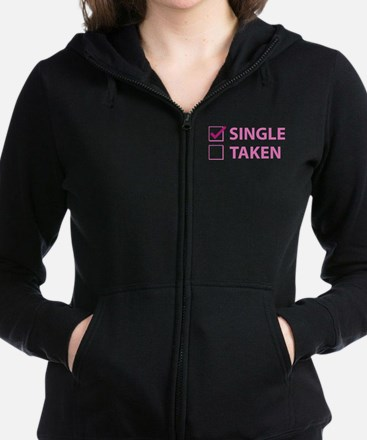 Single Taken Zip Hoodie