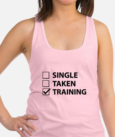 Single Taken Training Racerback Tank Top