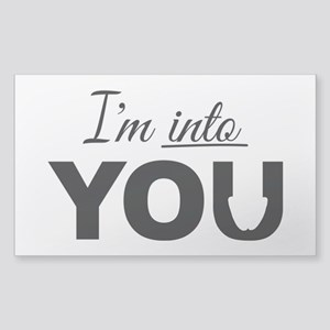 I'm into you, Adult Humor Sticker