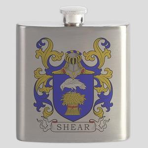 Shear Family Crest Flask