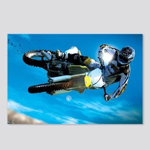 Motocross Side Trick Postcards (Package of 8)