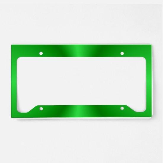 Green Shine License Plate Holder