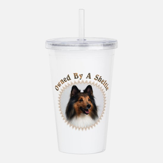 Owned By A Sheltie 999 Acrylic Double-Wall Tumbler