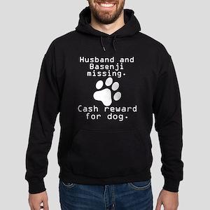 Husband And Basenji Missing Hoodie