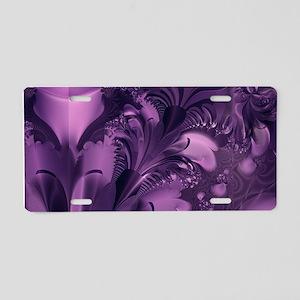 Purple Glory Aluminum License Plate