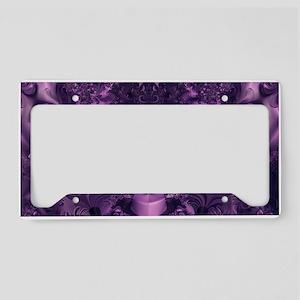 Purple Glory License Plate Holder