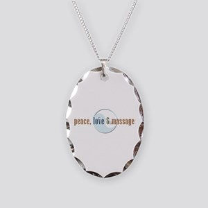 Peace, Love and Massage Necklace