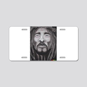 Black Jesus Aluminum License Plate