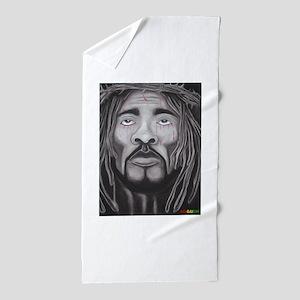 Black Jesus Beach Towel