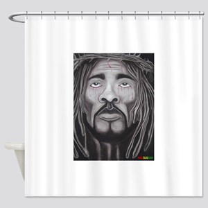 Black Jesus Shower Curtain