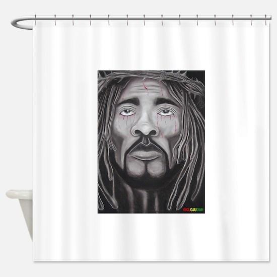 Black Jesus Shower Curtain